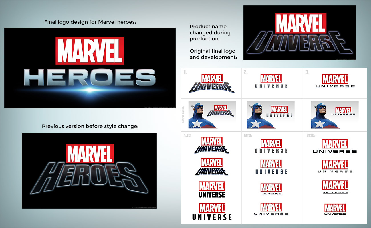 Marvel Font and Marvel Logo