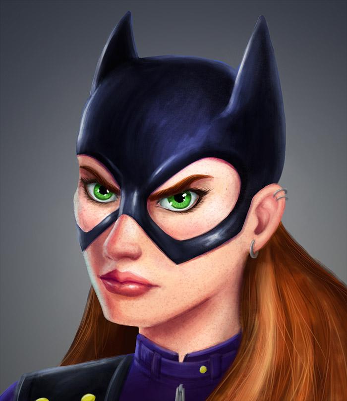 Batgirl-painting-WIP