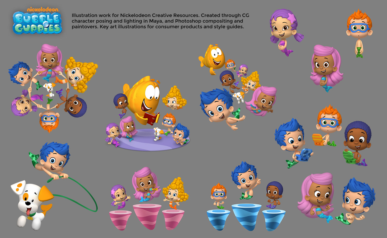 Bubble-Guppies-Characters